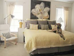 purple yellow and grey bedroom purple yellow gray wall bed