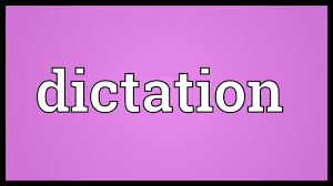Dictation Meaning - Youtube