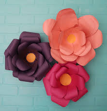 How To Make Flower Paper How To Make Large Paper Flowers Weekend Craft