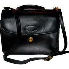 jack georges dark leather messenger bag from suzanstreasures on ruby