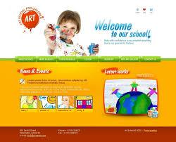 Kids School Website Template Art School Website Template 23643