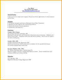 Resume For Grocery Store Example Cashier Job Description Resume