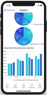 Chart App Iphone Dashboard Ios App Template