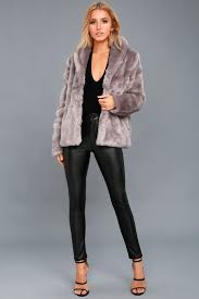 fauxreals dusty purple faux fur coat