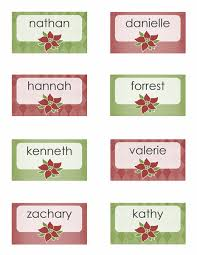 Holiday Placecards Holiday Place Cards Poinsettia Design 8 Per Page Templates