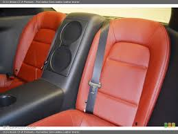 red amber semi aniline leather interior rear seat for the 2016 nissan gt r premium 84394407