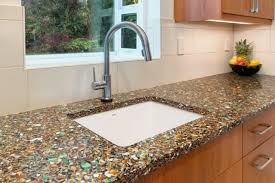 diy recycled glass countertops modern kitchen 2017 recycled glass countertops