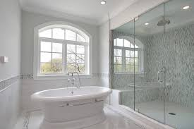 rain shower head bathtub. Charming Bathroom With Freestanding Tub And Rain Shower Head Bathtub L