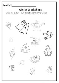 Free Winter Themed Worksheets Funky For Kindergarten Addition With ...