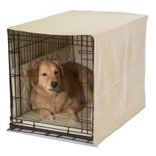 pet dreams3 pc classic dog crate cover set s l khaki