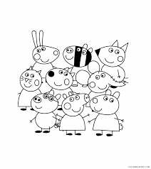 Peppa pig is a preschool animated television series produced by ashley baker davis. Peppa Pig Coloring Pages Cartoons Peppa Friends Pictures Printable 2020 4830 Coloring4free Coloring4free Com