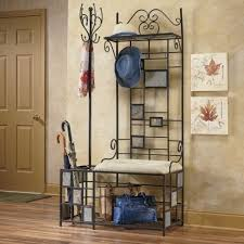 Front Door Coat Rack Simple Entryway Storage Bench With Coat Rack Plus Metal Entryway Storage