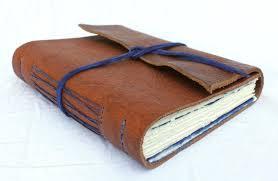 leather book cover kit handmade chestnut royal blue leather wrap journal sketchbook