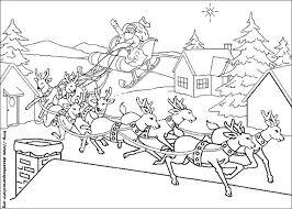 Santa And Reindeer Coloring Pages Reindeer Coloring Pages Printable