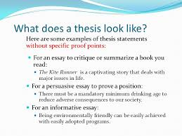 pasco hernando community college tutorial series academic essays  what does a thesis look like