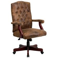 leather office chairs on sale. Ultra Rustic Suede Button Tufted Mahogany Wood Adjustable Executive Swivel Office Chair. Sale Leather Chairs On N