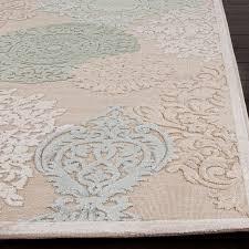 perfect cream area rug dar home co styers creamblue fl area rug reviews wayfair