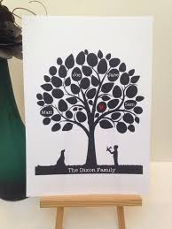 Family Tree Modern Design Family Tree Papercut Personalised Modern Tree Design Wall