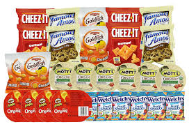 junk food snacks. Brilliant Food Healthy Snacks And Junk Food For Kids After School Or Lunch Box 28  Count Variety Pack With Cookies Goldfish Pringles Chips Crackers  Walmartcom Intended O