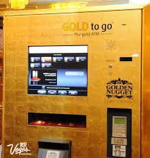 Gold Bar Vending Machine Las Vegas Custom The Golden Nugget Hotel Casino Adds An Extra Touch Of GOLD By