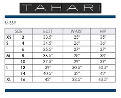 T Tahari Coat Size Chart Tahari Dress Size Chart Best Picture Of Chart Anyimage Org