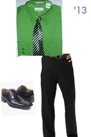 Green Dress Shirt Blue Tie