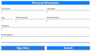 basic personal information form secure your ibm lotus forms based application with digital signatures