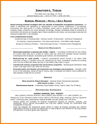 9 Hotel General Manager Resume Informal Letters Assistant Samples