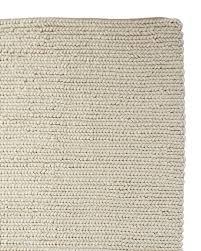 braided wool rug ivory