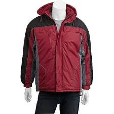 climate concepts men s fleece lined jacket with removable hood size large