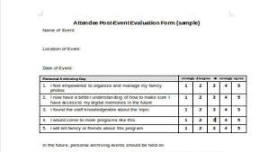 evaluation form templates 30 event evaluation form templates