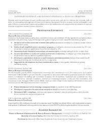 Human Resource Resume Example Nfcnbarroom Com