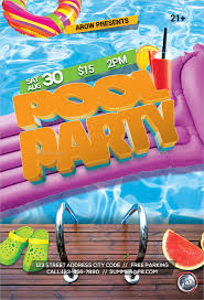 pool party flyer template blank.  Template Float Pool Party Flyer Template Inside Blank N