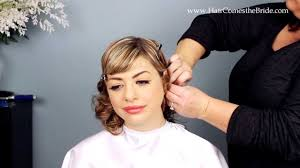 1930s inspired bridal hair and makeup tutorial