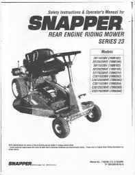 instructional and owners manuals for lawn and garden equipment snapper riding mower electrical diagram at Snapper Series 23 Wiring Diagram