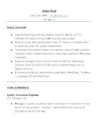 Quality Assurance Resume Quality Assurance Analyst Resume Template