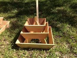 pyramid planter tier herb garden strawberry hamerscrafts tierra