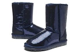 ... UGG Women Classic Short Sparkles 3161 Boots Navy ...