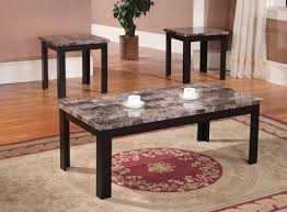 Cecil Marble Top 3 Piece Coffee Table Set