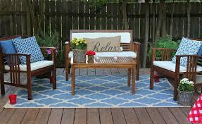 outdoor garden calming outdoor rug for patios with aqua blue geometric design