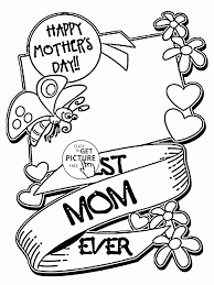 Coloring Pages Coloringes Mother S Day Mothers Adult Tremendous