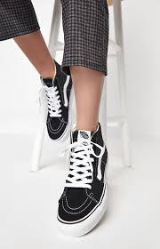 Pacsun Skirt Size Chart Vans Womens Black White Sk8 Hi Platform Sneakers