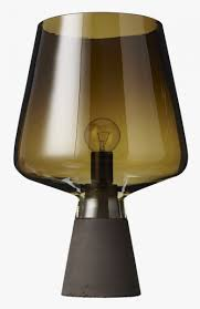 Wine Glass Like Table Lamp On Concrete Base Tint Lamp The Great