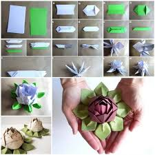 How To Make A Lotus Flower Out Of Paper How To Make Origami Lotus Flower Pictures Photos And
