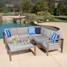 Denise Austin Home Sonora Outdoor Aluminum 4 piece Sofa Set with