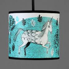 Unicorn Lampshade Regular Turquoise By Lush Designs Lush