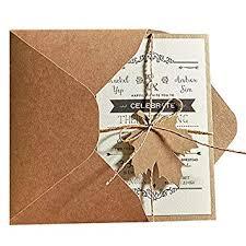 Envelope Wedding 5x7 Rustic Wedding Invitations Unique Wedding Cards With Invitation Envelope Set Of 50 Pcs