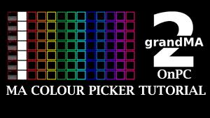 Ma Lighting Tutorial Colour Picker Programming Ma2 Lighting