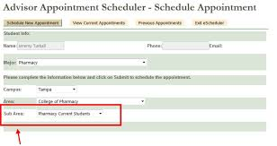 advisor appointments usf health contact information usf college of pharmacy office of admissions