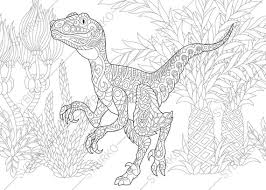 Small Picture Adult Coloring Pages Dinosaur Velociraptor Zentangle Doodle